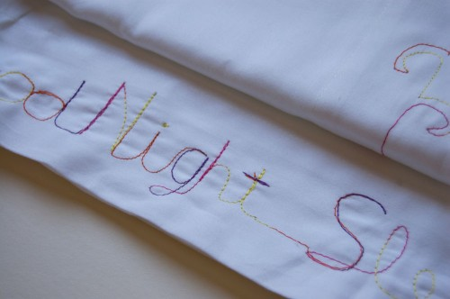 Free Motion Embroidered Pillowcases by Wise Craft Handmade